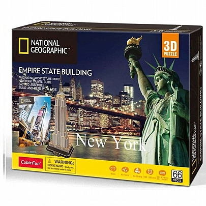 3D Empire State Building New York (66κ) National Geographic - CubicFun